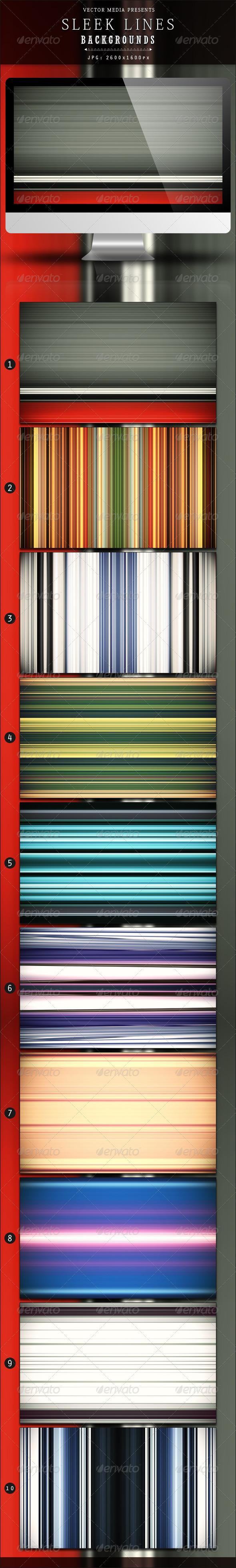 Sleek Lines - Backgrounds - Backgrounds Graphics