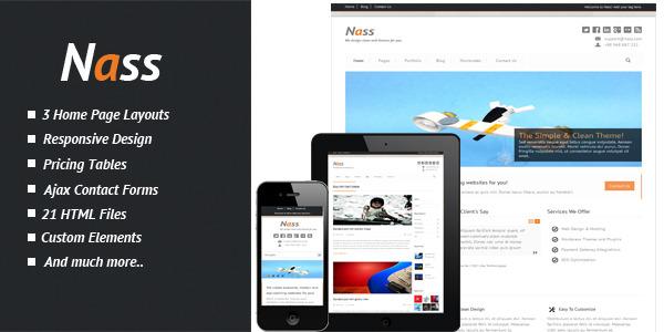 Nass - Responsive HTML Template
