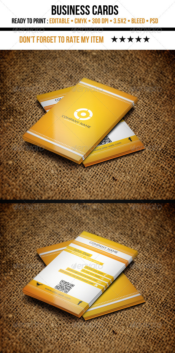 GraphicRiver Corporate Business Cards 3424287