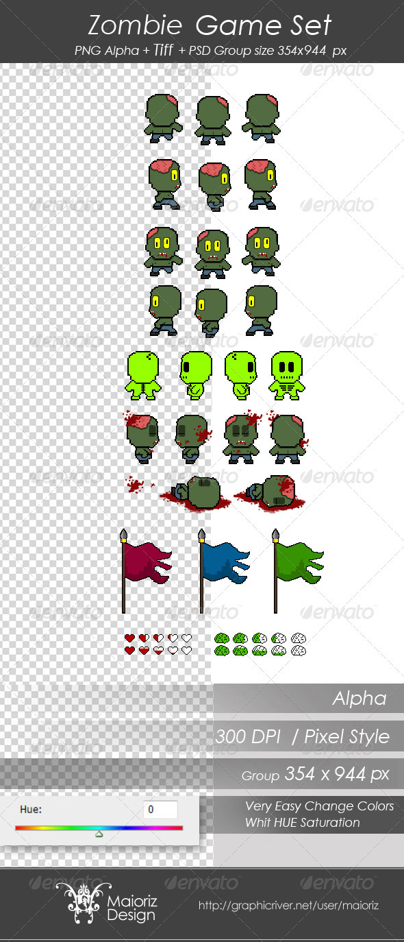 GraphicRiver Zombie Game Set 3407386