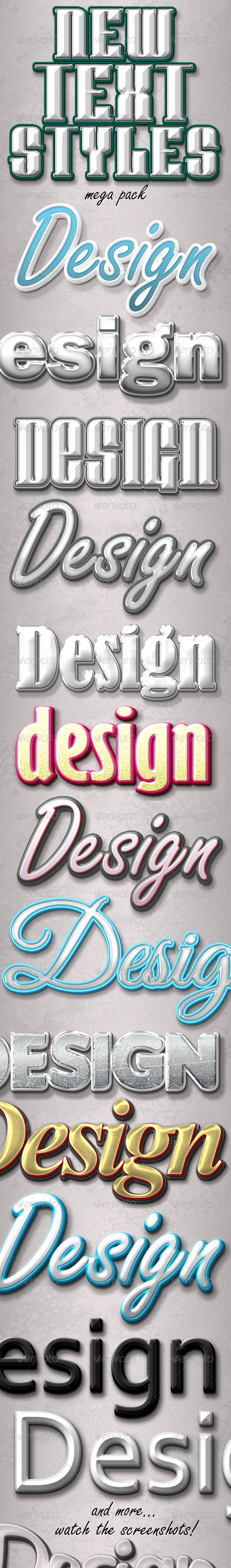 GraphicRiver New Text Styles 3424845