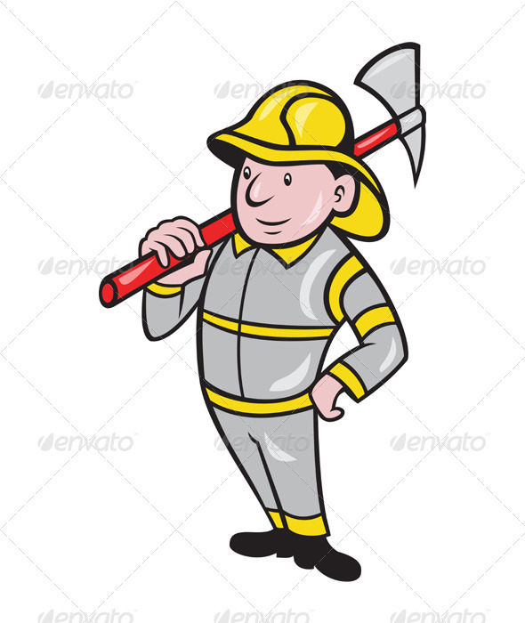 GraphicRiver Fireman Firefighter Emergency Worker 3425544