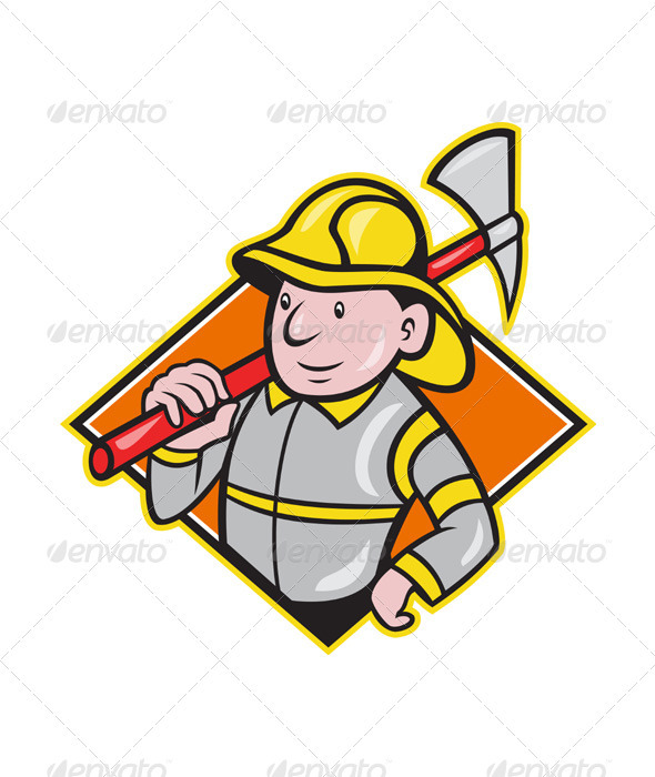 GraphicRiver Fireman Firefighter Emergency Worker 3425588