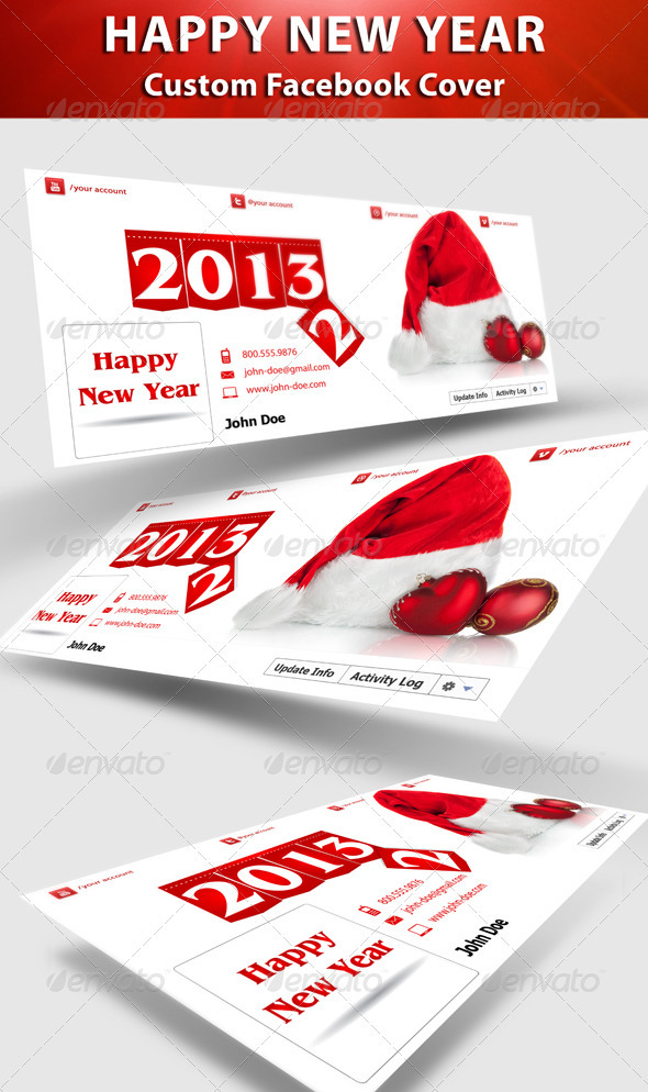GraphicRiver New Year FB Timeline Cover 3425828