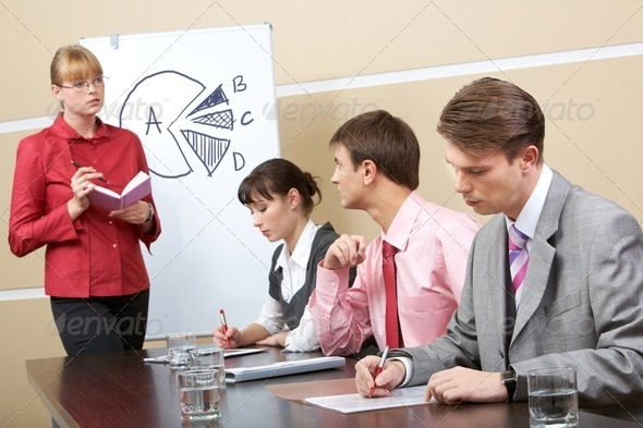Consulting with teacher - Stock Photo - Images