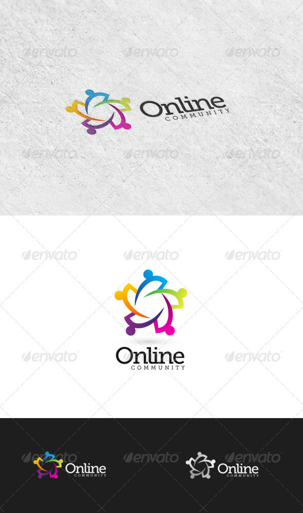 GraphicRiver Online Community 1 Logo Template 3426609