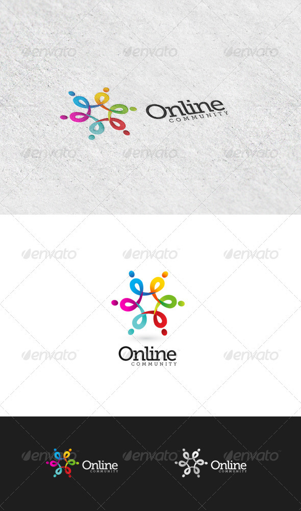 GraphicRiver Online Community 2 Logo Template 3426610