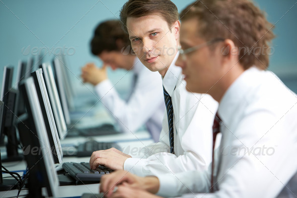 Ideal office worker - Stock Photo - Images
