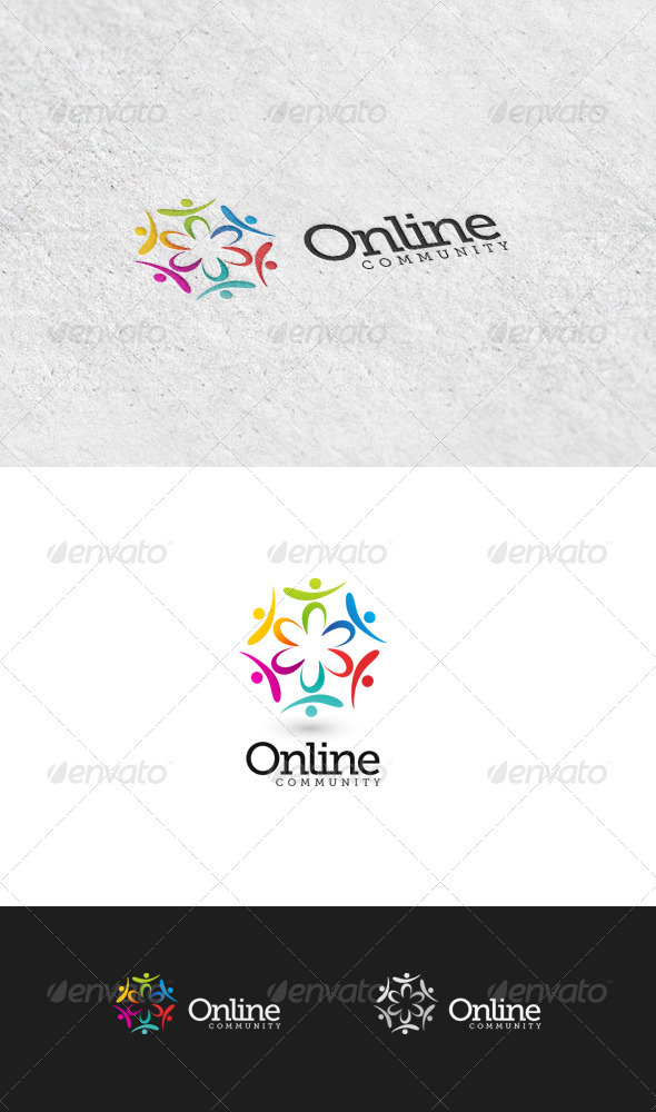 GraphicRiver Online Community 4 Logo Template 3426612