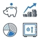 Finance Icons - Blue Series - GraphicRiver Item for Sale