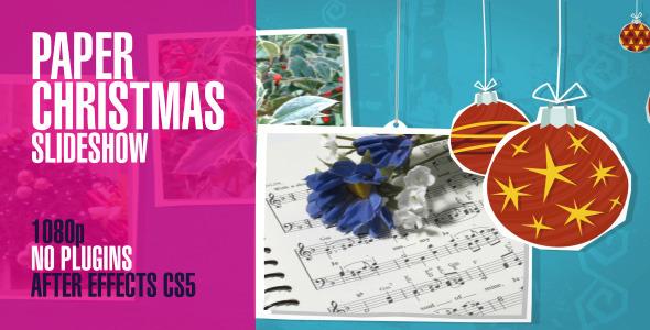 Paper Christmas Slideshow Pan