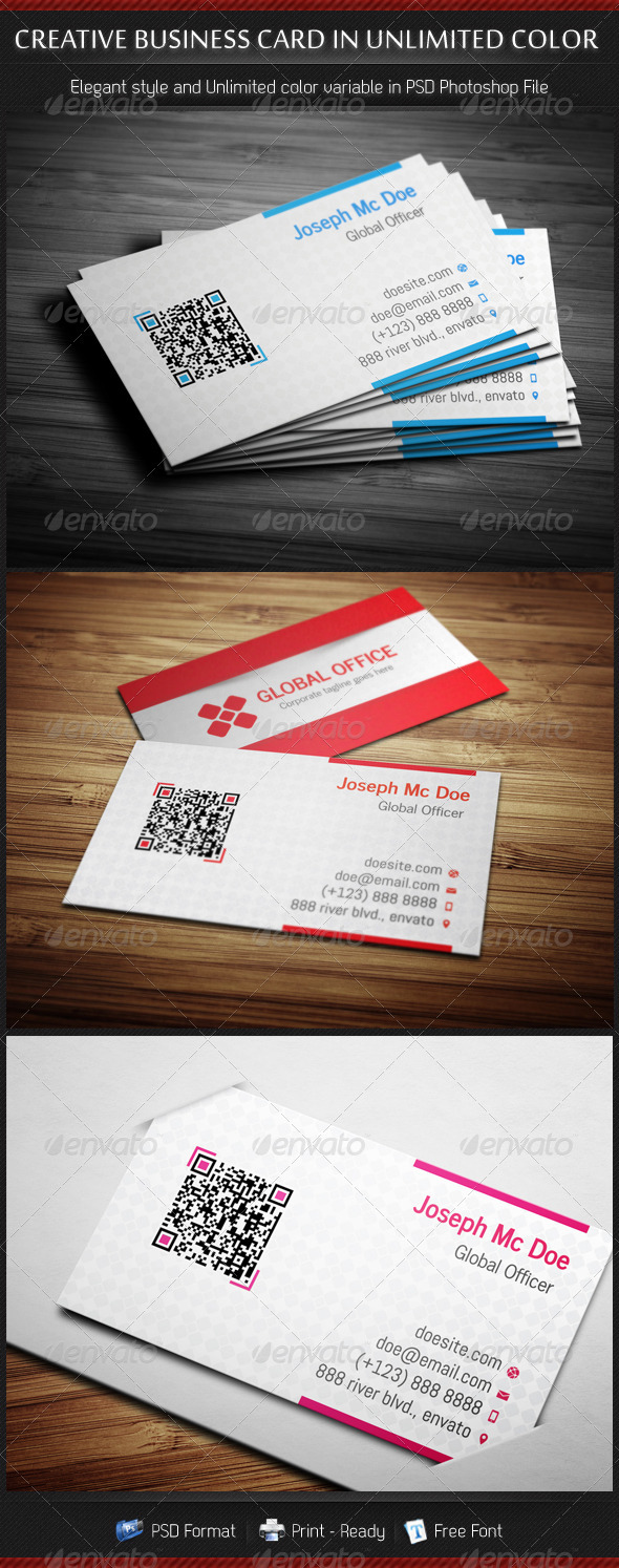 GraphicRiver Business Cards in Unlimited Color 3426926