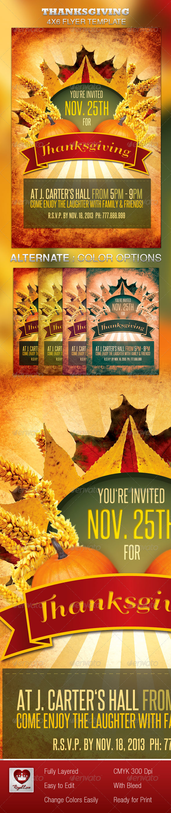 GraphicRiver Thanksgiving Flyer 3427055
