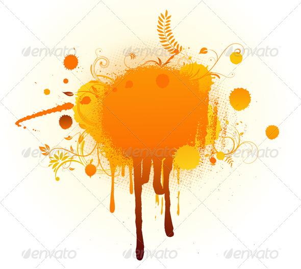 GraphicRiver Big Orange Blot 3427478