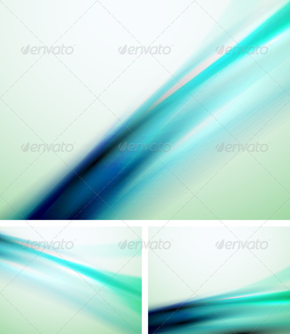 GraphicRiver Smooth Blue Backgrounds 3427485