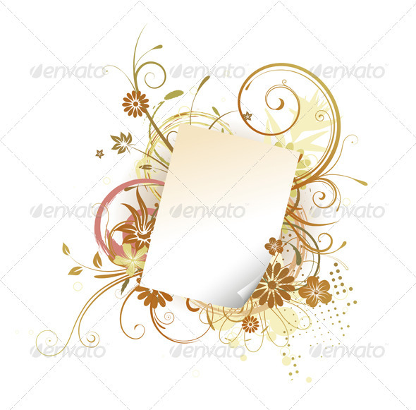 GraphicRiver Paper Leaf Frame 3427486