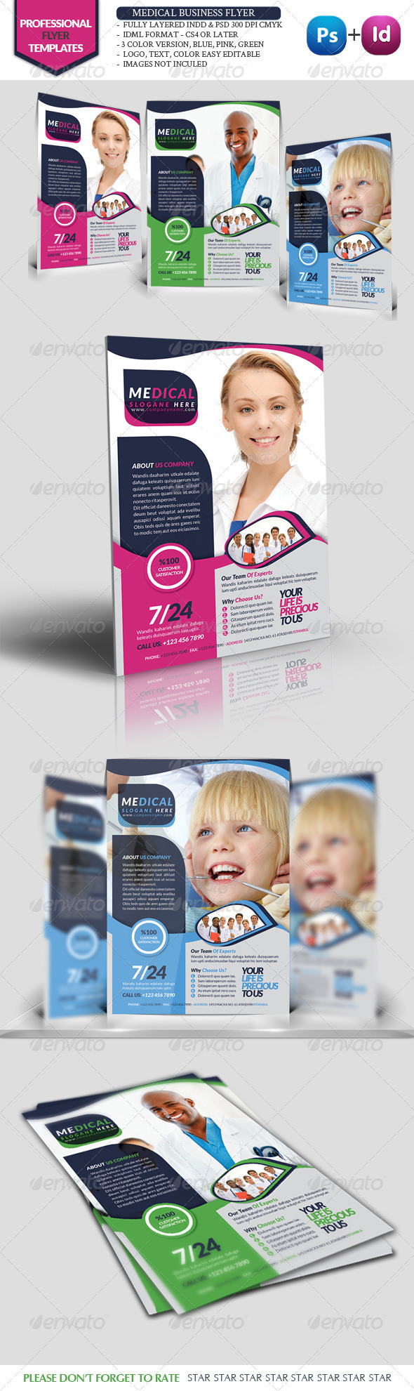 GraphicRiver Health Business Flyer 3415367