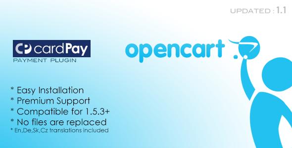 CodeCanyon Tatrabanka CardPay Opencart Plugin 3309605