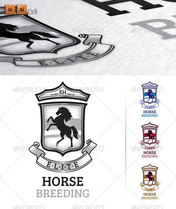 Horse Breeding - Animals Logo Templates