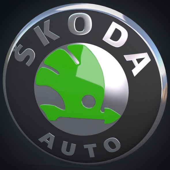 Skoda Logo - 3DOcean Item for Sale