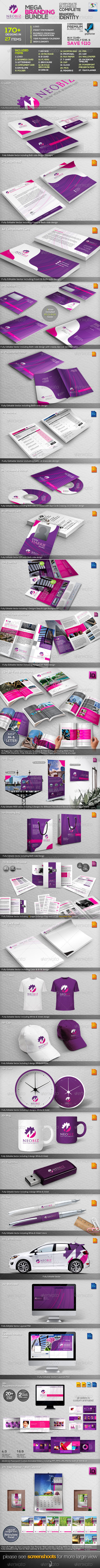 NeoBiz: Corporate Business ID Mega Branding Bundle - Stationery Print Templates