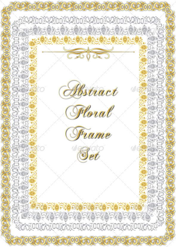 GraphicRiver Golden Floral Frame 3401191