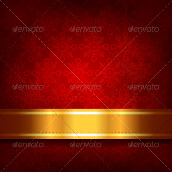 GraphicRiver Red Christmas Background 3401098