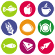 16 Vector Food Icons - GraphicRiver Item for Sale