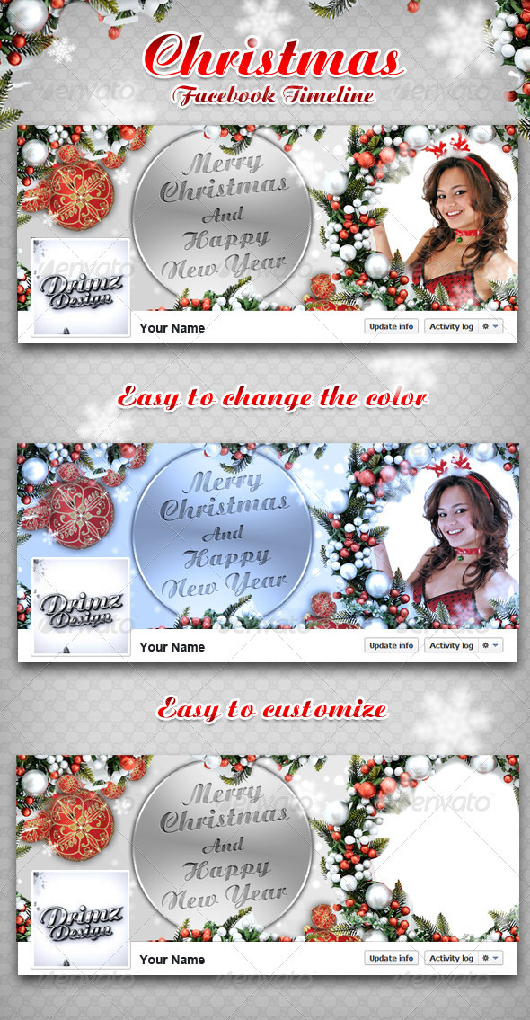GraphicRiver Christmas FB Timeline 3428879