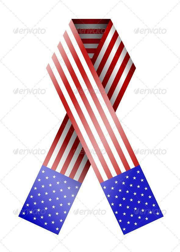 GraphicRiver Vector 4th of July Ribbon Isolated on White 3429544