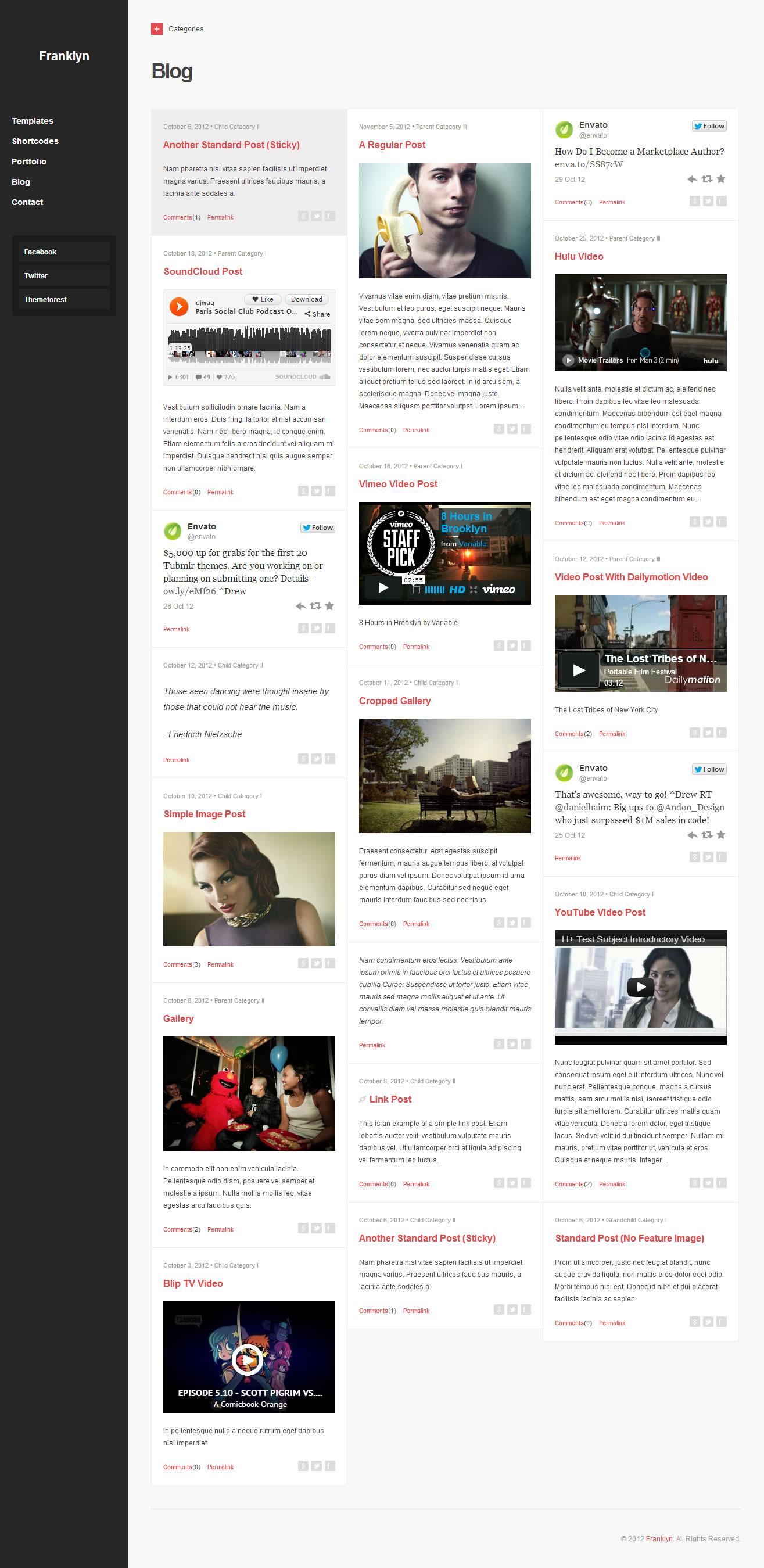 Franklyn - Portfolio & Blog WordPress Theme