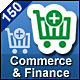 150 Vector Icons - Commerce & Finance - GraphicRiver Item for Sale