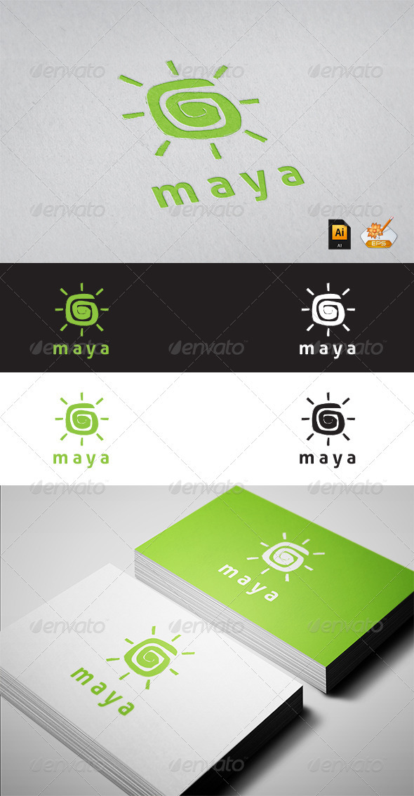 GraphicRiver Maya Logo Tempalate 3430629