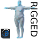 RIGGED Obese Man Base Mesh HIGH POLY - 3DOcean Item for Sale