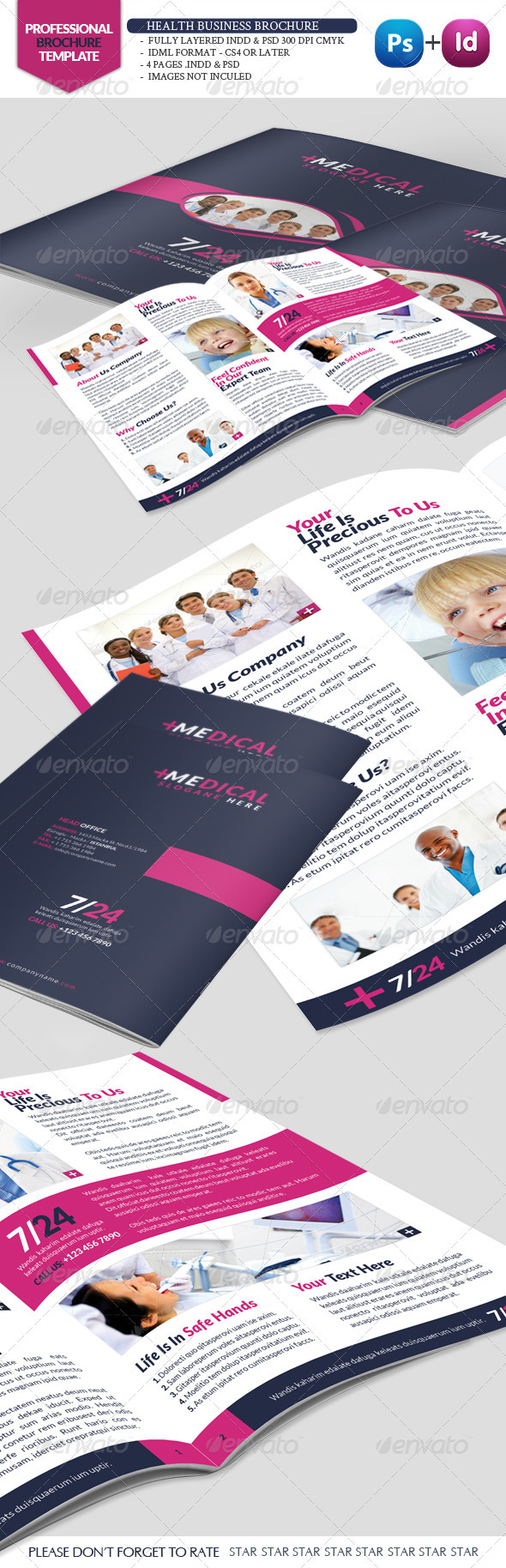 GraphicRiver Health Business Brochure 3431145
