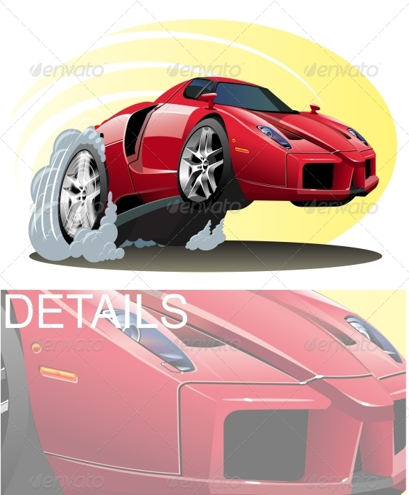 GraphicRiver Vector Cartoon Sport Car 3431182