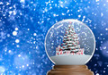 snowglobe with christmas tree and presents inside - PhotoDune Item for Sale