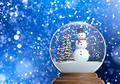 snowglobe with snowman inside with copy space - PhotoDune Item for Sale