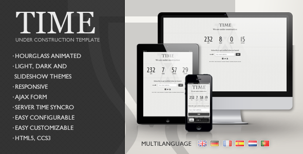 ThemeForest TIME Responsive Under Construction Template 3431316