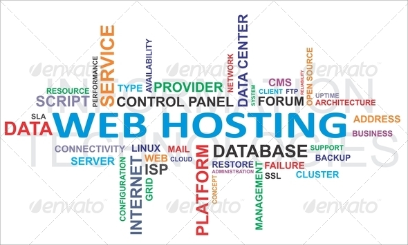 PhotoDune word cloud web hosting 3431391