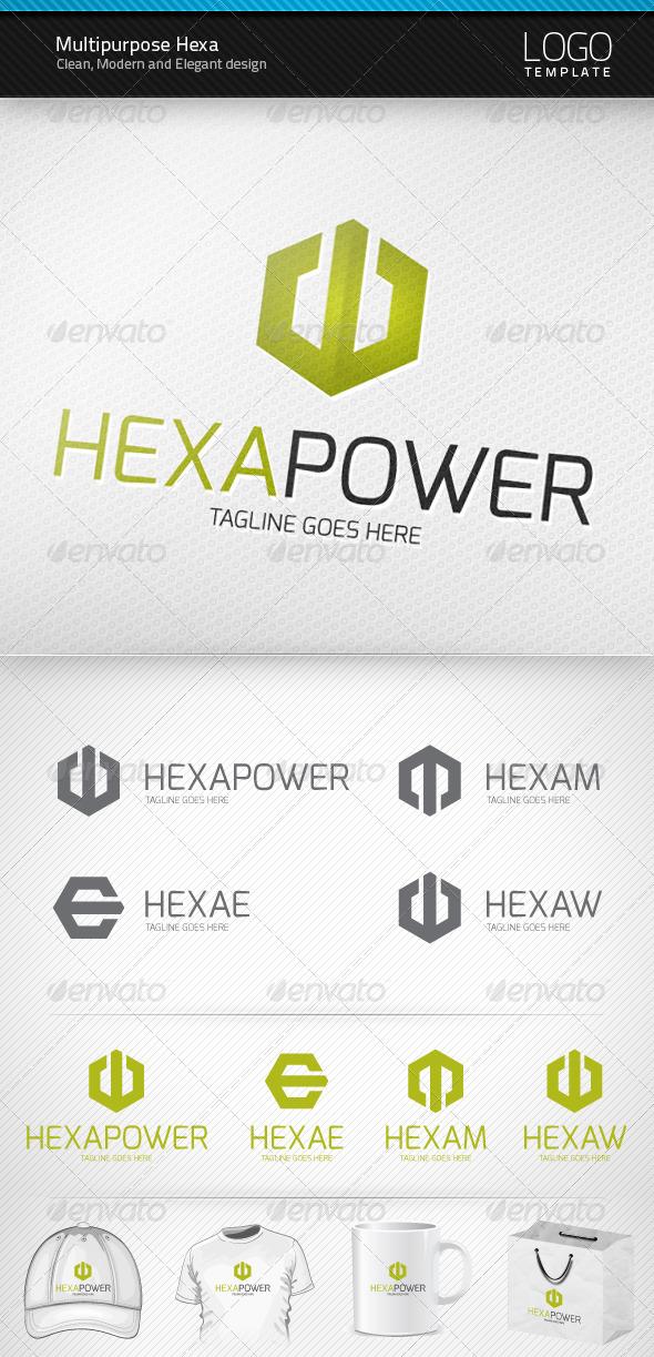 Multipurpose Hexa Logo - Letters Logo Templates