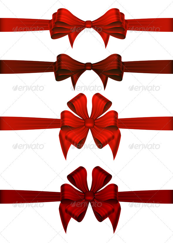 GraphicRiver Red Gift Ribbons 3431422