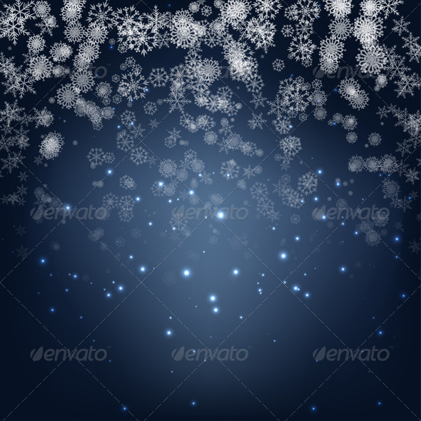GraphicRiver Blue Winter Background 3431425