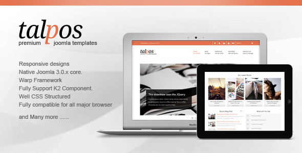 ThemeForest Talpos Responsive Clean & Fresh Joomla Templates 3431463