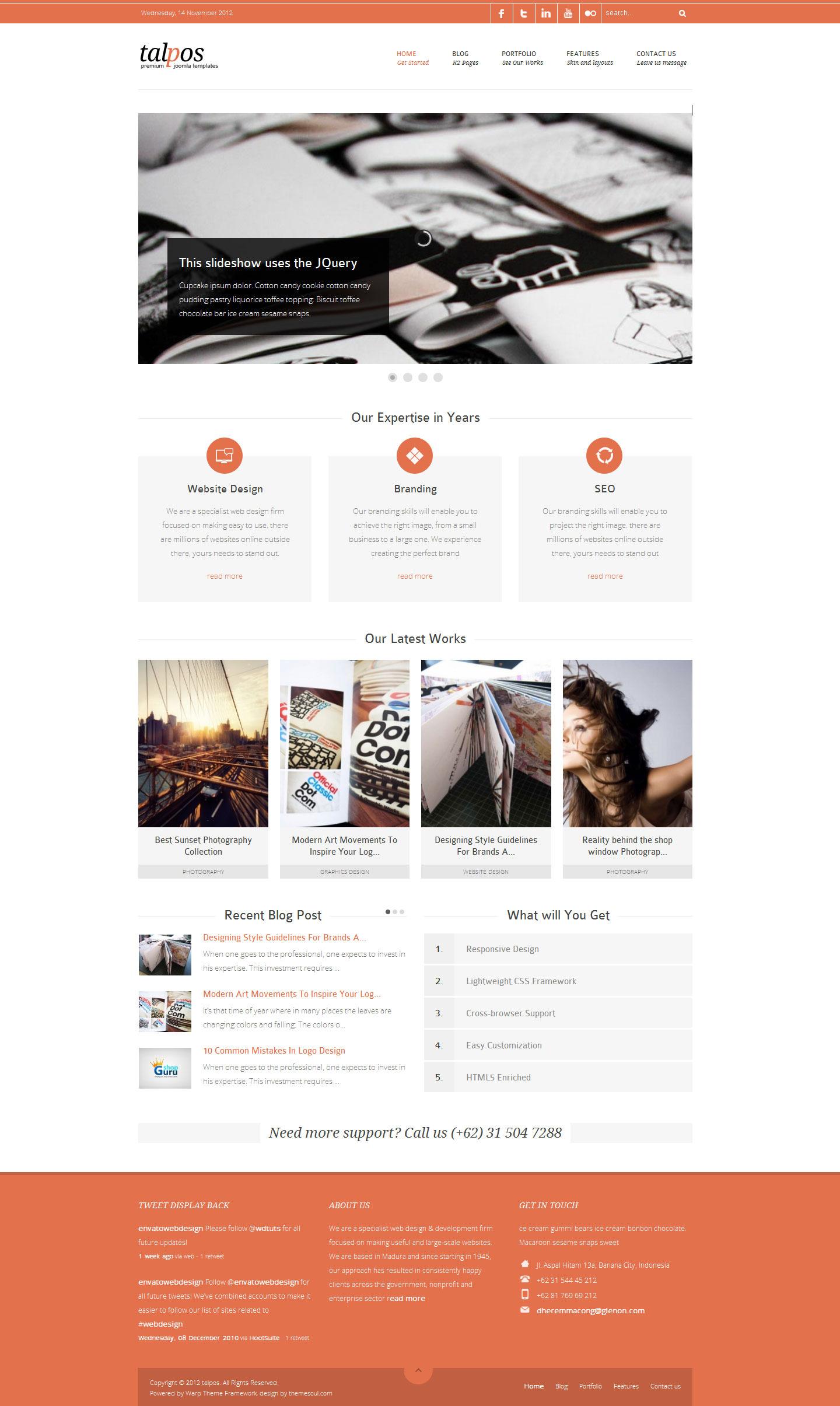 Talpos - Responsive Clean & Fresh Joomla Templates