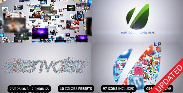 AEģ�� ͼƬ��Ƶlogo��� videohive Flying Through Images Logo Reveal 2568773