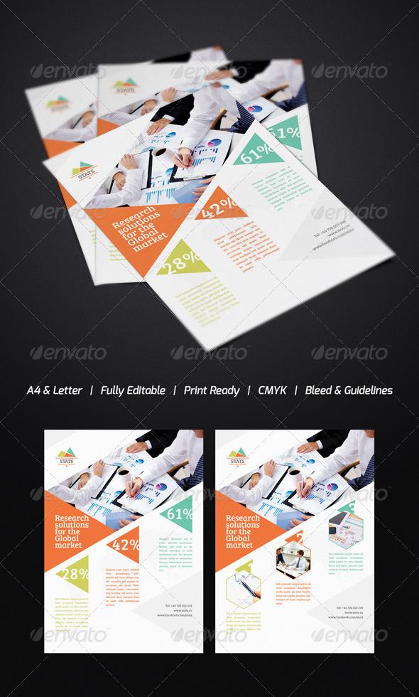 GraphicRiver Statistics Flyer 3431984