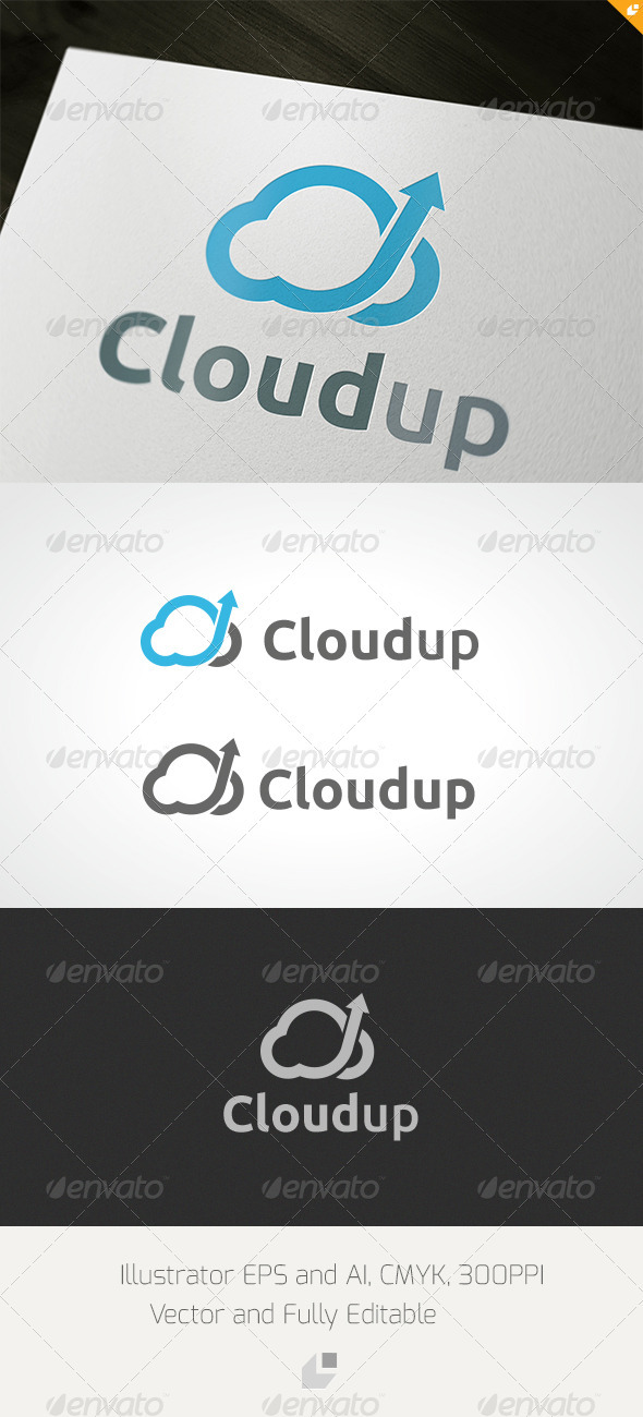 GraphicRiver Cloudup Logo 3432410