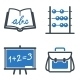School and Education Icons Set 1 - Blue Series - GraphicRiver Item for Sale
