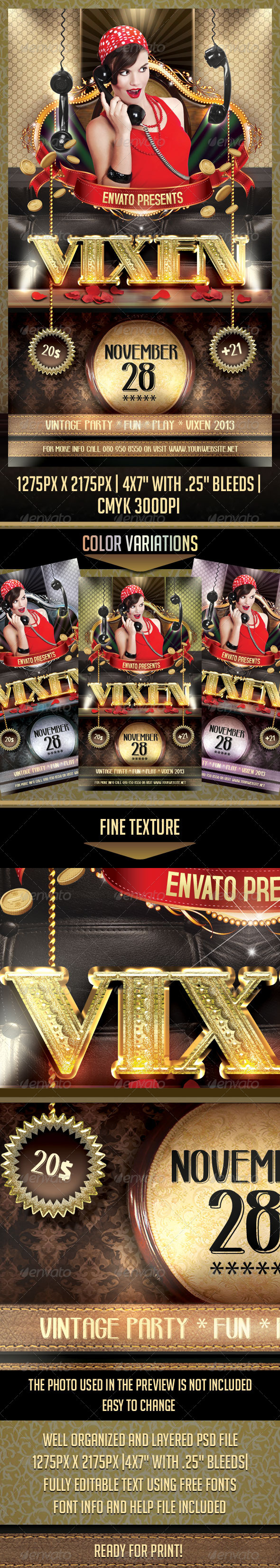 GraphicRiver Vixen Flyer Template 3376254